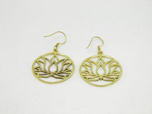Les Boucles D'oreilles – Lotus – Laiton Recyclé