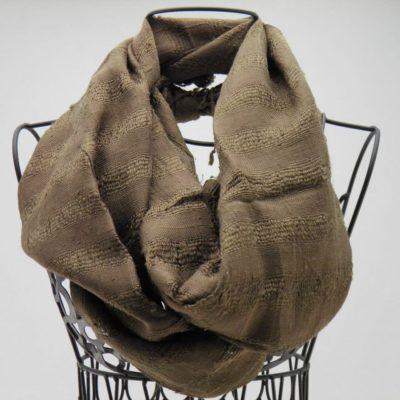 Le Soyeux - Foulard soie sauvage - Bronze
