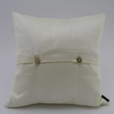 Coussin Soie Sauvage Nature - Ivoire - verso
