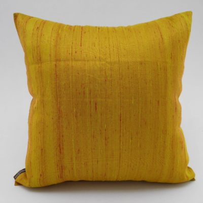 Coussin Soie Sauvage Nature - Or