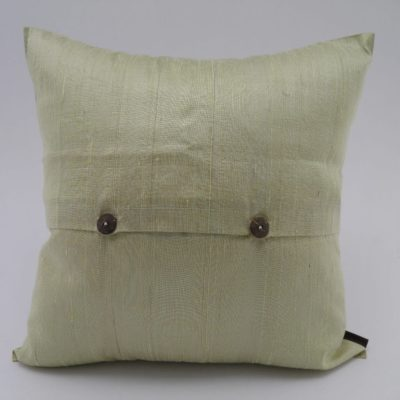 Coussin Soie Sauvage Nature - Beige - verso