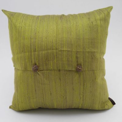 Coussin Soie Sauvage Nature - Bambou - verso