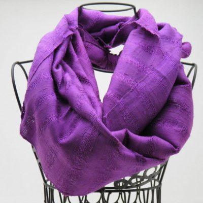 Le Soyeux - Foulard soie sauvage - Violet
