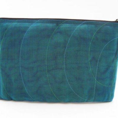La Pochette Tablette 11 pouces - Bleu Pétrole - verso