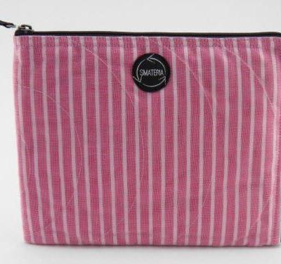 La Pochette Tablette iPad - Rose ligné