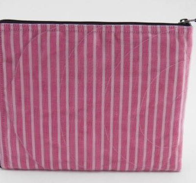 La Pochette Tablette iPad - Rose ligné - verso