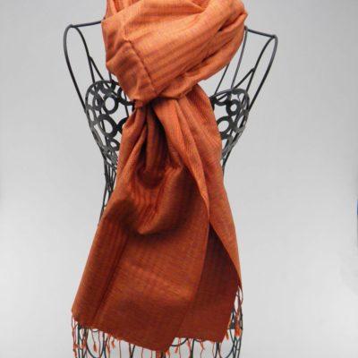 Foulard Soie - Élégant - Orange