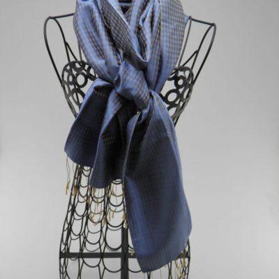 Foulard Vichy - Bleu