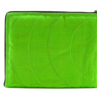 La Pochette Tablette iPad - Vert pomme - verso