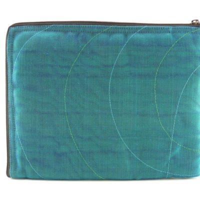 La Pochette Tablette iPad - Bleu pétrole - verso