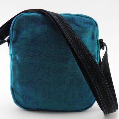 Le Quadrillé – Petit - Sac à bandoulière - Bleu pétrole - verso