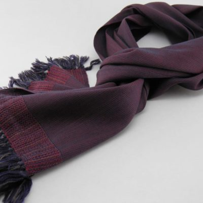 Men's Wool And Silk Scarf - Red