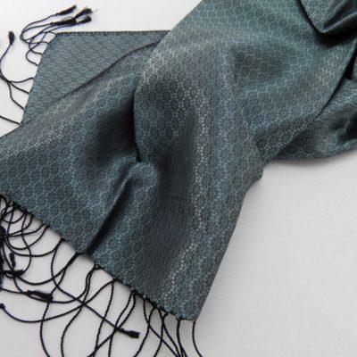 Le VIP - Foulard de soie - Vert aqua - détail
