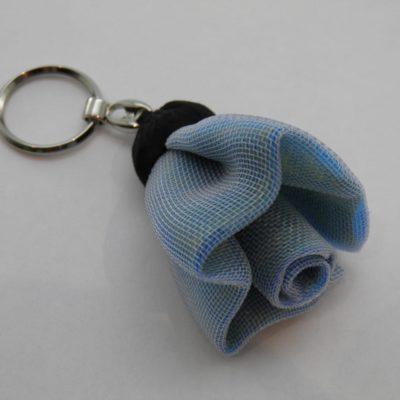 Porte-clés Fleur - Petit - Bleu pâle