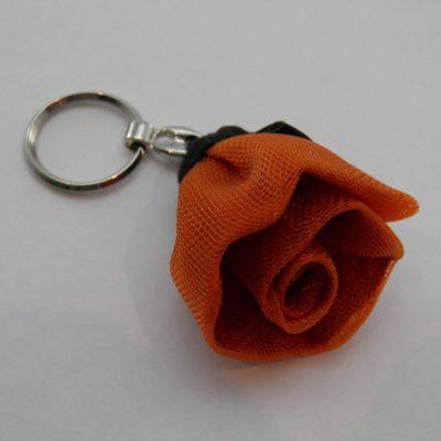 Porte-clés Fleur - Petit - Orange