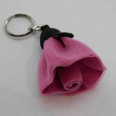 Porte-clés Fleur - Petit - Rose