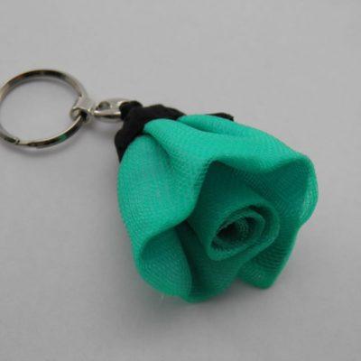 Porte-clés Fleur - Petit - Turquoise