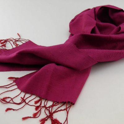 Le Naturel - Foulard soie sauvage - Fuchsia