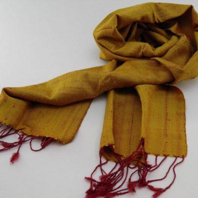 Raw Silk Scarf - Gold