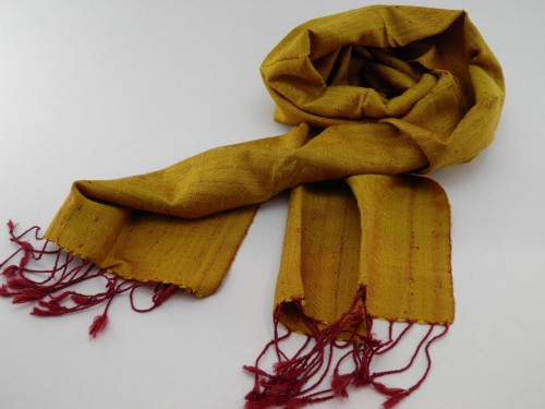 Le Naturel - Foulard Soie Sauvage - Or