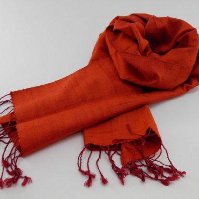 Le Naturel - Foulard soie sauvage - Orange