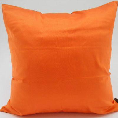 Coussin Charmant - Aubergine / Orange - 45x45cm - verso