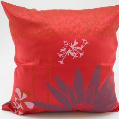 Coussin Lotus – 2 en 1 - Rouge / Violet - 45x45cm