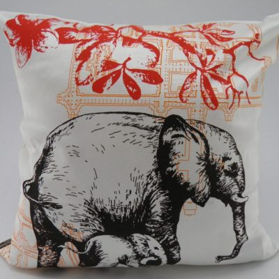 Wild Animal Cushion Cover - Elephant