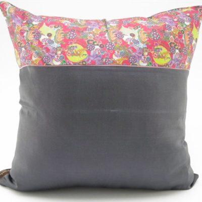 Jungle Chic – Silk Cushion Cover - Charcoal - 45x45cm