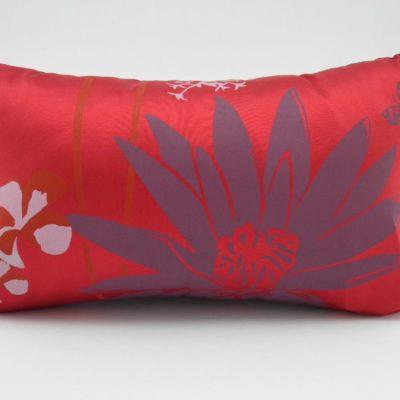 Coussin Lotus – 2 en 1 - Rouge / Violet - 45x27cm