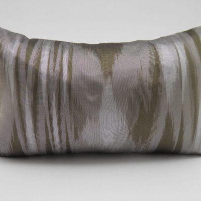 Coussin IKAT Contemporain - Bronze / Anis - 45x27cm