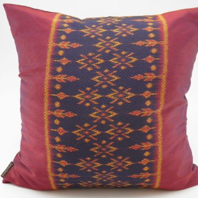Coussin IKAT Hol Lboeuk - Traditionnel - 45x45cm