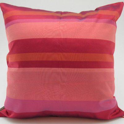 Kep Stripe Cushion Cover - Fuchsia / Red - 45x45cm