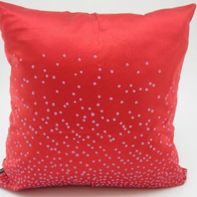 Coussin Explosion de points - Rouge - 45x45cm