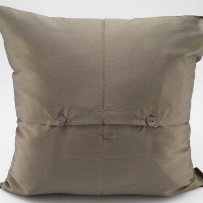 Coussin Soie – Chorebap Jasmine - Bronze - 45x45cm - verso