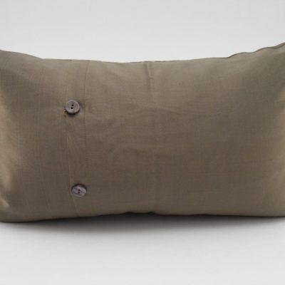 Coussin Soie – Chorebap Jasmine - Bronze - 45x27cm - verso