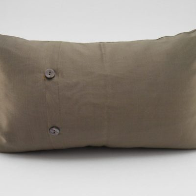 Coussin Soie – Chorebap Jasmine - Bronze / Anis - 45x27cm - verso