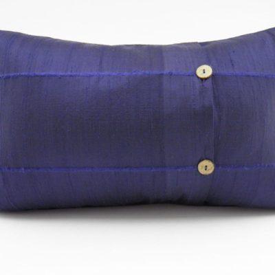 Coussin Soie Sauvage - Bleu marine - 45x27cm - verso