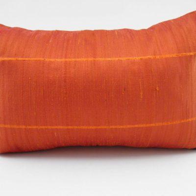 Coussin Soie Sauvage - Orange - 45x27cm
