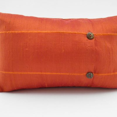 Coussin Soie Sauvage - Orange - 45x27cm - verso