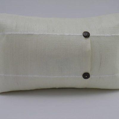 Coussin Soie Sauvage - Ivoire - 45x27cm - verso