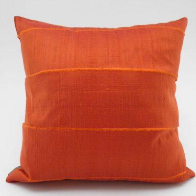Coussin Soie Sauvage - Orange - 42x42cm