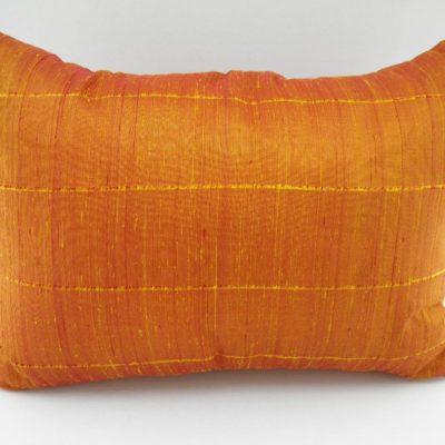 Coussin Soie Sauvage - Jaune / Orange - 70x50cm