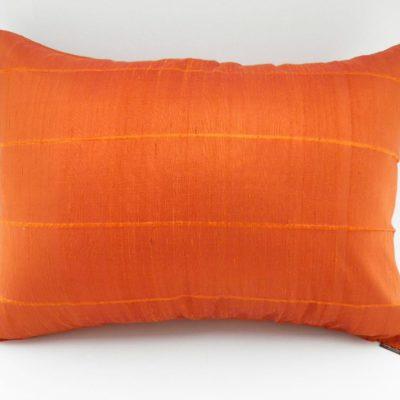 Coussin Soie Sauvage - Orange - 70x50cm