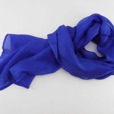 Collection Sorbet - Foulard soie équitable - Bleuet