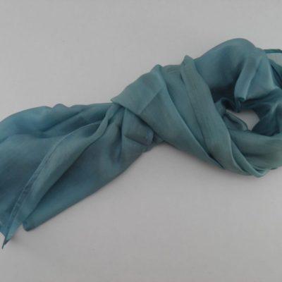 Collection Sorbet - Foulard soie équitable - Vert menthe