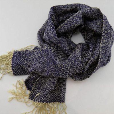 Romduol - Foulard soie sauvage - Bleu marine