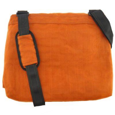 Le Courrier - Sac messager éthique - Orange - verso
