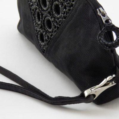 Le Géométrie - Pochette éco-responsable avec dragonne - Noir - détails