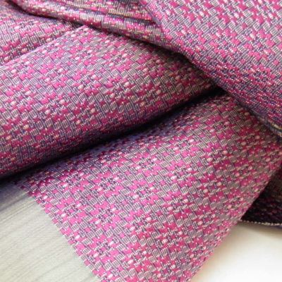Écharpe Gala - Brocart de soie - Pourpre / Argent - détail